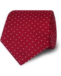 Tm Lewin - Dark Red Spotted Silk Tie - Lyst