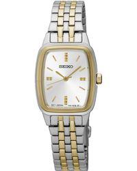 Seiko - Ladies Stainless Steel/two Tone 3-hand Bracelet Watch Srz472p1 - Lyst
