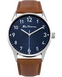 Ben Sherman - Men's Brown Analogue Strap Watch Bs143 - Lyst