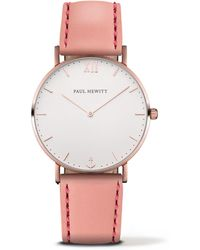 PAUL HEWITT - Ladies Pink 'sailor Line' Analogue Watch Ph-sa-r-sm-w-24 - Lyst