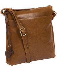 Conkca London - Dark Tan 'nikita' Leather Compact Cross-body Bag - Lyst