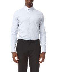 Burton - White Slim Fit End On End Stretch Shirt - Lyst