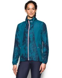 Under Armour - Blue Printed Running Jacket - Lyst