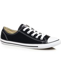 a9898cff498e3a Converse Chuck Taylor Dainty Trainers In White With Gold Eyelets in ...