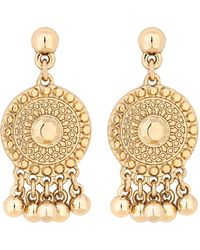 Matthew Williamson - Gold Coin And Ball Drop Earrings - Lyst