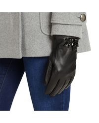 Phase Eight - Black Embellished Leather Gloves - Lyst