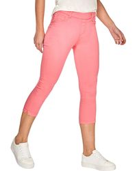 Dorothy Perkins - Bright Pink Eden Cropped Jeggings - Lyst
