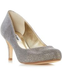 Dune - Gold 'amelia' Mid Stiletto Heel Court Shoes - Lyst
