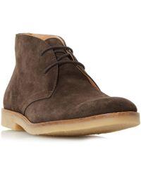 Dune - Brown 'compton' Sleek Suede Chukka Shoes - Lyst