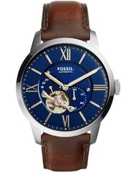 Fossil - Men's Townsman Leather Watch Me3110 - Lyst