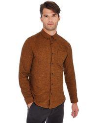 Red Herring - Mustard Long Sleeve Slim Fit Shirt - Lyst