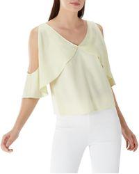 Coast - Lime Yellow 'suki' V-neck Top - Lyst