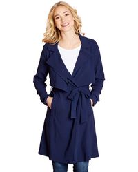 Yumi' - Navy Double Layer Mac - Lyst