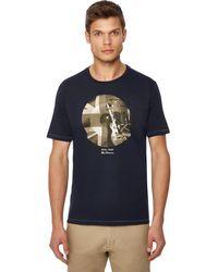 Ben Sherman - Big And Tall Navy Graphic Print T-shirt - Lyst