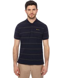 Ben Sherman - Navy Striped Polo Shirt - Lyst