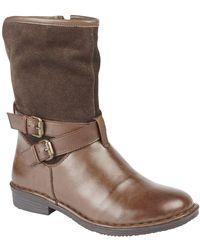 Lotus - Brown 'gallatin' Block Heel Ankle Boots - Lyst