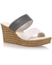 Carvela Kurt Geiger - Brown 'sybil' High Heel Wedge Sandals - Lyst