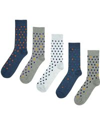 Burton - 5 Pack Assorted Spotted Socks - Lyst