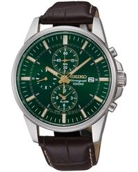 Seiko - Men's Chronograph Strap Watch Snaf09p1 - Lyst