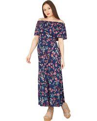 Izabel London - Multicoloured Floral Print Frill Maxi Dress - Lyst