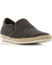 Bertie - Grey 'fergie' Knitted Espadrille Slip On Shoes - Lyst