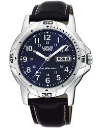 Lorus - Men's Black Contrast Dial Watch Rxn51bx9 - Lyst