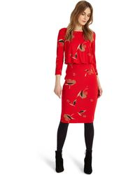 Phase Eight - Red Meredith Blouson Dress - Lyst