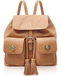 Marc B. - Double Pocket Camel Backpack - Lyst