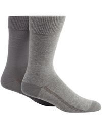 Levi's - Pack Of Two Plain Grey Socks - Lyst