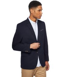 Racing Green - Navy Pique Blazer With Pocket Square - Lyst