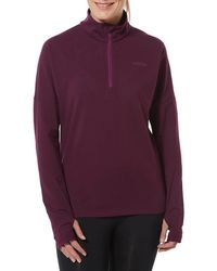 Tog 24 - Aubergine Marples Performance Zip Neck Top - Lyst