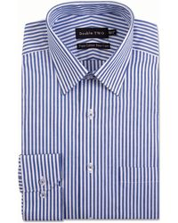 Double Two - Blue Bengal Stripe Formal Shirt - Lyst