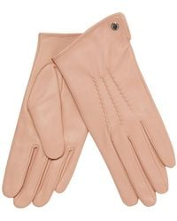J By Jasper Conran - Light Pink 3 Point Leather Gloves - Lyst