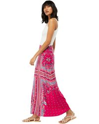 Monsoon - Pink 'patsy' Print Maxi Skirt - Lyst
