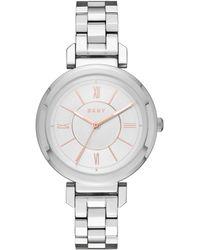 DKNY - Ellington Silver-tone Watch - Lyst
