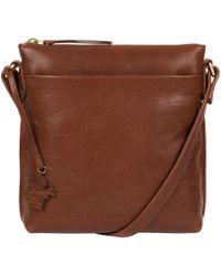 Conkca London - Conker Brown 'nikita' Leather Compact Cross-body Bag - Lyst