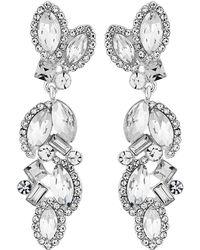Jenny Packham - Designer Crystal Cluster Drop Earrings - Lyst