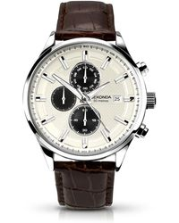 Sekonda - Gents Brown Leather Strap Watch 1177.28 - Lyst