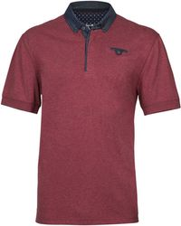 Raging Bull - Chambray Collar Jersey Polo - Lyst