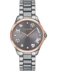 COACH - Ladies Grey 'astor' Analogue Bracelet Watch - Lyst