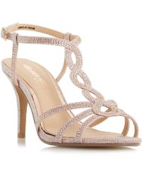 Dune - Rose 'mamboo' Mid Stiletto Heel T-bar Sandals - Lyst