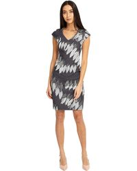 f66a14eca4e338 Phase Eight - Multi-coloured Effie Zip Back Diamond Dress - Lyst