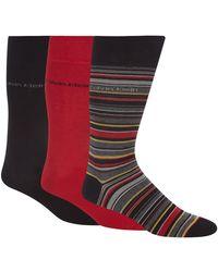 Calvin Klein - Pack Of Three Red Stripe Socks - Lyst