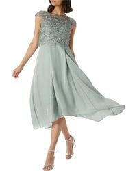 Coast - Sage Green 'jade' Embroidered Bodice Dress - Lyst