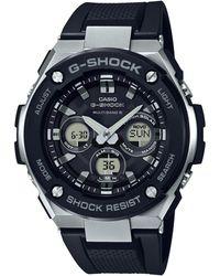 G-Shock - Men's Black G-steel Midsize Alarm Chronograph Watch Gst-w300-1aer - Lyst