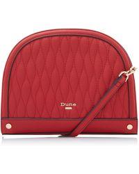 Dune - 'delluna' Small Quilt Crescent Cross-body Bag - Lyst