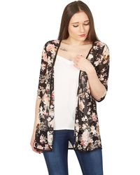 Izabel London - Multicoloured Floral Print Shier Cardigan - Lyst