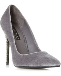 Dune - Grey 'bryleigh' Court Shoes - Lyst