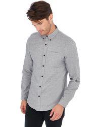 Red Herring - Grey Long Sleeve Slim Fit Shirt - Lyst