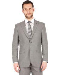 Scott & Taylor - Grey Puppytooth 2 Button Front Regular Fit Suit Jacket - Lyst